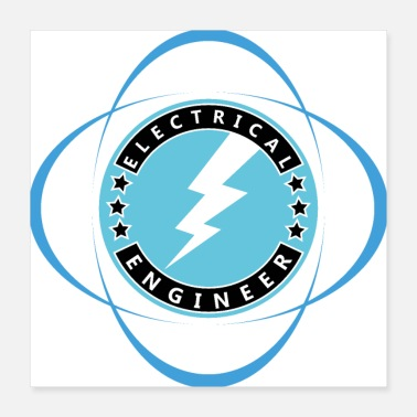 Electrician electrical engineer electrician engineering logo d - Poster