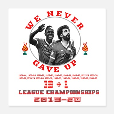 Record Champion Liverpool FC - CHAMPIONS 2019-20 - Poster