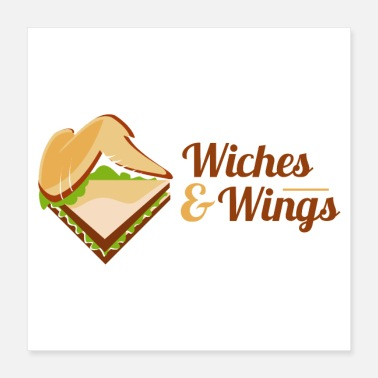 Sandwich Sandwich and Chicken Wings - Poster