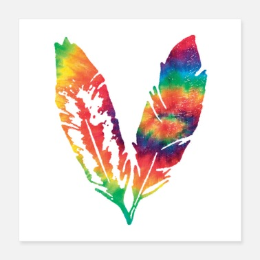 Shrit Tie Dye feather - Poster