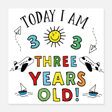 Years Old three years old - Poster