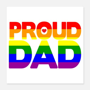 Proud Dad Gay Pride Shirt Proud Dad LGBT Parents Day - Poster