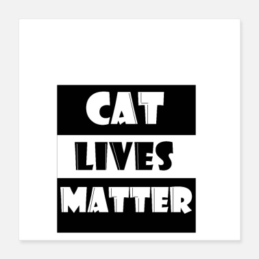 I Heart cat lives matter for love shirt and gift - Poster