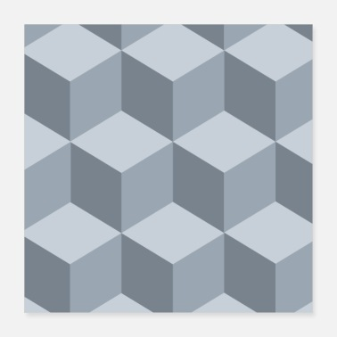 Optical Illusion Boxes Optical Illusion Pattern - Poster
