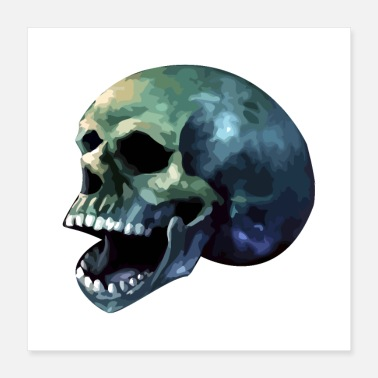 Meringue Skull mouth laughing - Poster