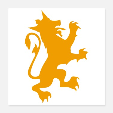 Gamer knight Heraldic Lion Loyal Funny Gift Idea - Poster