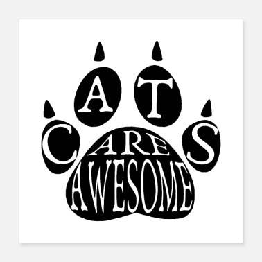 Paw Cats Are Awesome - Poster