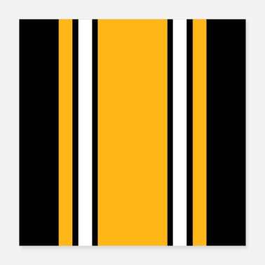 Stripes Pittsburgh Black And Gold Stripes - Poster