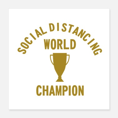Linux Social Distancing World Champion - Poster