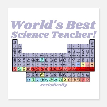 Periodic Table Elements World's Best Science Teacher Periodic Table - Poster