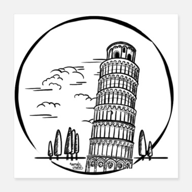 Leaning Tower Pisa Italy : leaning tower of Pisa - Poster