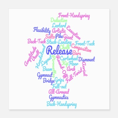 Gymnastics Gymnastics Word Cloud - Poster