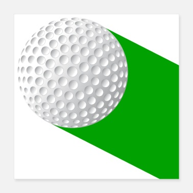 Golf Swing Golf Ball On Green - Poster