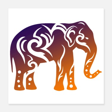 Tanzania Elephant Tribal Tattoo Gift Idea - Poster