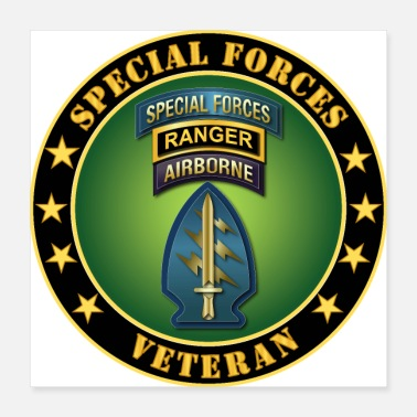 Special Forces Army Special Forces Ranger Veteran - Poster