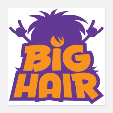 Eighties Big Hair Band Logo - Poster