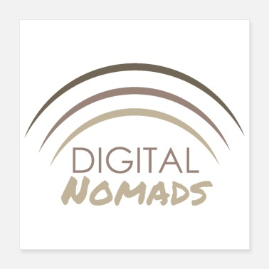 Remote Digital Nomads Wifi Remote Worker Funny Gift Idea - Poster