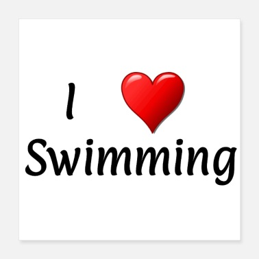Swimming Instructor I love swimming - Poster