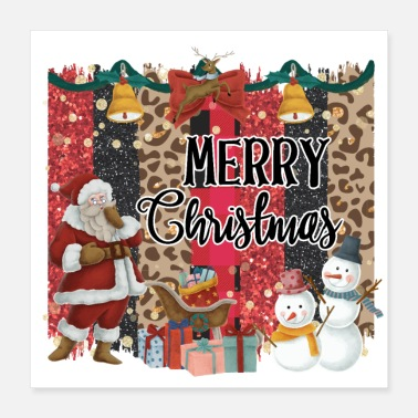 Christmas Quote Merry Christmas Quote Santa Claus Snowmen - Poster