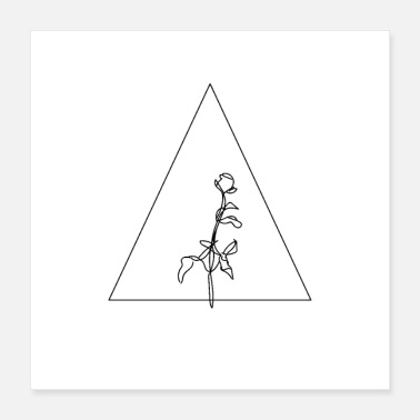 Blogger Rose Triangle Hand Drawn - Poster