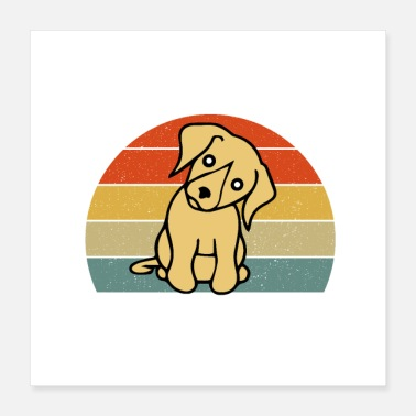 Cute Golden Retriever Life is Golden retriever | Gift for dog lovers - Poster