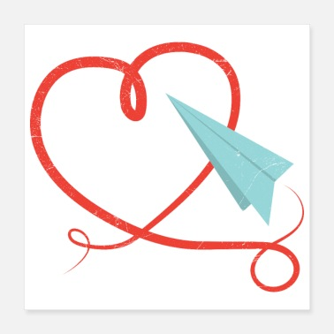 Paper Planes Love Paper plane Origami Pilot Kids Gift Idea - Poster