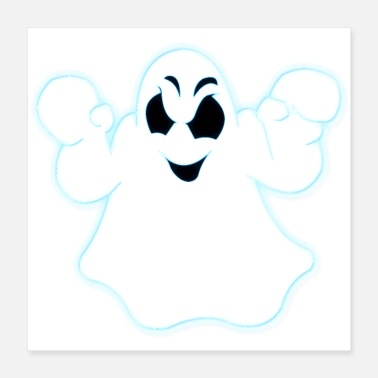 Glowing Glowing Halloween Ghost - Poster