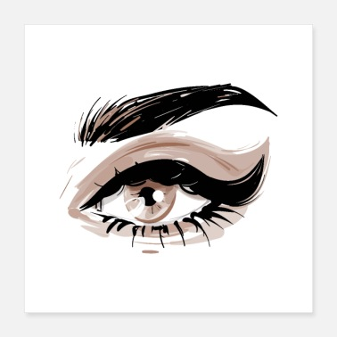 Eye Patch eye makeup - Poster