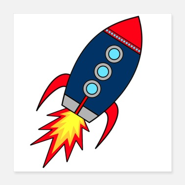 Startup Rocket takes off * rocketman * rocketman * Space - Poster