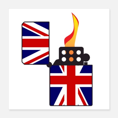 Union Jack Union Jack Flag Open Cigarette Lighter - Poster