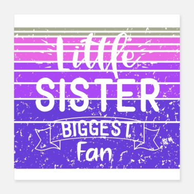 Fan Article Little Sister Biggest Fan - Baseball Sunset Design - Poster