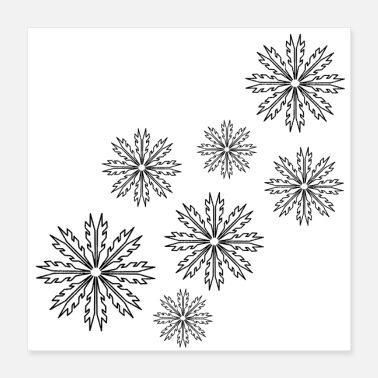 Flake Snowflakes - storm - winter feelings - Poster