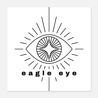 Eye Patch eagle eye - Poster