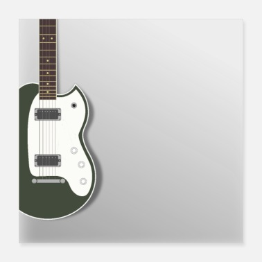 Electric Guitar electric guitar green rock pop metal blues - Poster