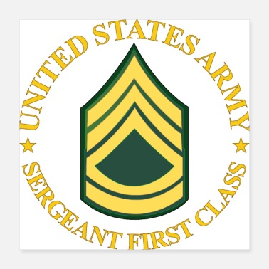 Sergeant Army US Army Sergeant First Class wo Bkgrd - Poster