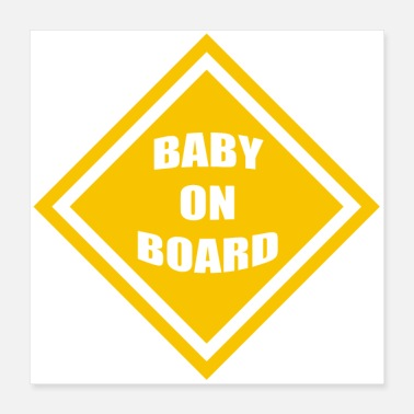 Baby Bump baby on board - Poster