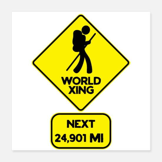 World Posters - World Crossing - Poster 16x16 white
