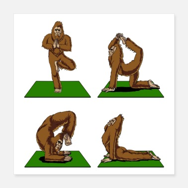 Funny Bigfoot Bigfoot Yoga - Poster