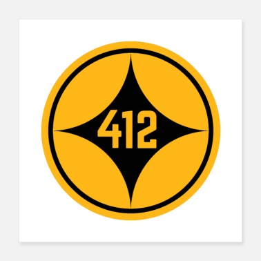 412 Pittsburgh 412 Star Gifts - Poster
