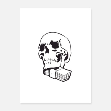 Dollar Bill Accountant Skull Accountant - Poster
