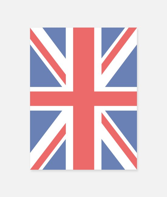 Liverpool Posters - Union Jack Britain UK Flag - Poster white