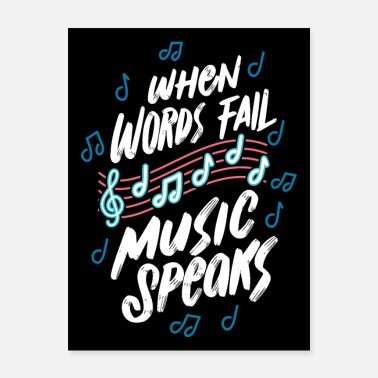 Piano Music Quotes Music Listener Song Musican Notes - Poster