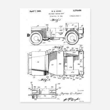 Vehicle Military Vehicle Patent Shirt - Poster