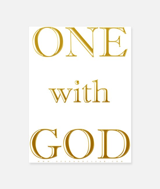 Inspiration Posters - One with God - A Course in Miracles - Down - Poster white