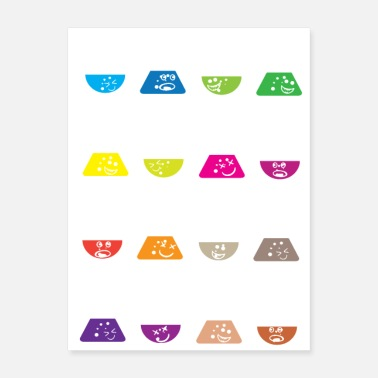 Laboratory Nerdy Colorful flasks science laboratory lab - Poster