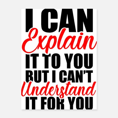 Motto Engineer s Motto Can t Understand It For You - Poster