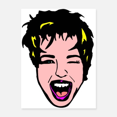 Laugh Laughing Pop Art - Poster