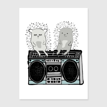 Hedgehog Music - Poster 18x24