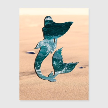 Mermaid In The Sand Poster - Poster 18x24