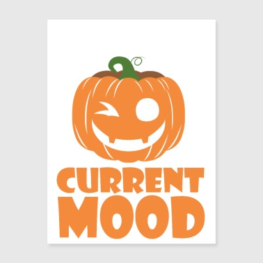 Funny Laughing Pumpkin Halloween - Poster 18x24